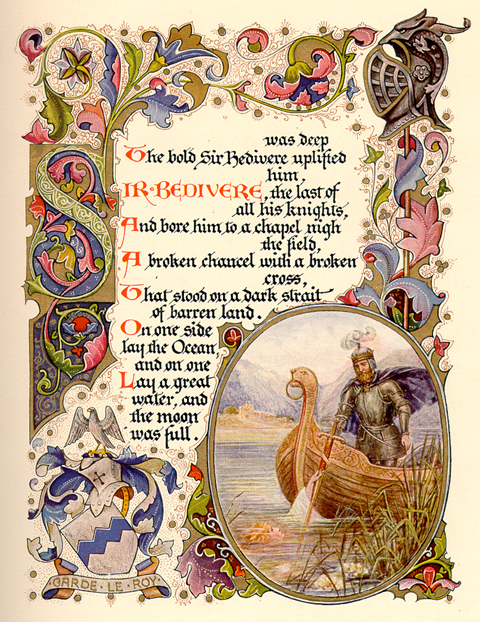 the passing of arthur and excalibur essay Free summary and analysis of the passing of arthur in alfred, lord tennyson's idylls of the king that won't make you snore we promise.